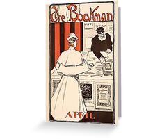 Artist Posters The bookman April JM Flagg 0011 Greeting Card