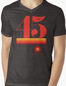 45rpm Mens V-Neck T-Shirt