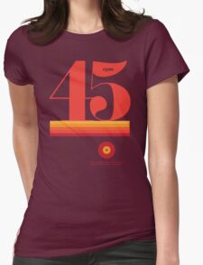 45rpm Womens Fitted T-Shirt