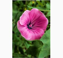 Early Summer Blooms Impressions – Bright Pink Malva Vertical Womens Fitted T-Shirt
