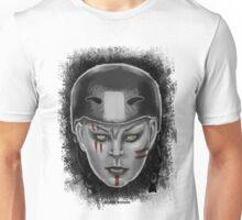 Roller Derby Warrior Girl (Black and white version) Unisex T-Shirt