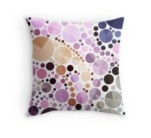 neon bright colorful pastel pink geometric circles Throw Pillow