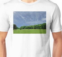 Bales of Hay, Green Fields and Blue Skies - Brittany Country side Unisex T-Shirt
