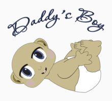 Daddy's Boy Bald and Blue Eyes Kids Tee