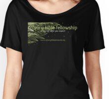Calvary Bible Fellowship Logo Design Women's Relaxed Fit T-Shirt