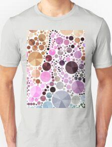 neon bright colorful pastel pink geometric circles Unisex T-Shirt