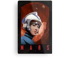 Mars One Retro Sci-Fi Astronaut Metal Print