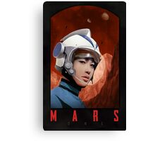 Mars One Retro Sci-Fi Astronaut Canvas Print