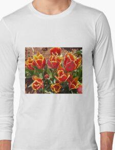 Orange and Yellow Tulips Long Sleeve T-Shirt