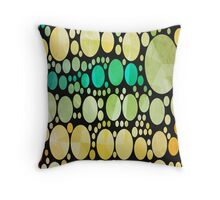 Cool Geometric pattern Circles Hipster Fish scale Throw Pillow