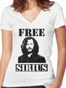 Free Sirius Women's Fitted V-Neck T-Shirt