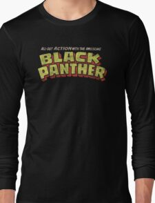 Black Panther - Classic Title - Dirty Long Sleeve T-Shirt