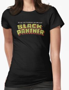 Black Panther - Classic Title - Dirty Womens Fitted T-Shirt