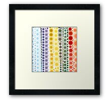 hipster fashion trendy Pastel colors rainbow bubbles Framed Print