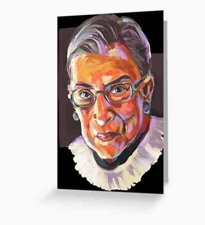 Supreme Court Justice Ruth Bader Ginsburg Greeting Card