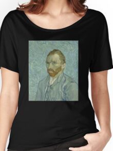 Van Gogh - Blue Self Portrait Women's Relaxed Fit T-Shirt