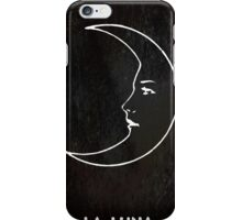 La Luna - Tarot in Black iPhone Case/Skin