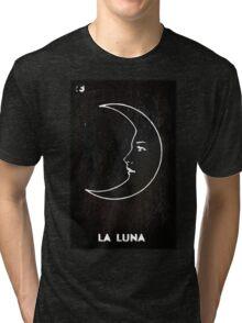 La Luna - Tarot in Black Tri-blend T-Shirt