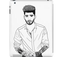 Zayn Malik Black and White Digital Line Art  iPad Case/Skin