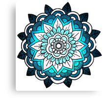 mandala: bright blue Canvas Print