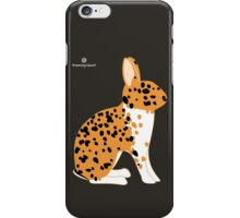 Black Spotted Japanese Rabbit iPhone Case/Skin