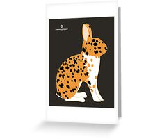 Black Spotted Japanese Rabbit Greeting Card