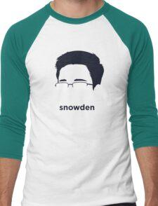 Edward Snowden (Hirsute History) Men's Baseball ¾ T-Shirt