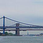 Brooklyn & Manhattan Bridges & the Statue of Liberty by Margaret  Hyde