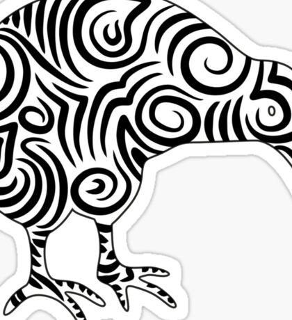 Kiwi Bird Aotearoa New Zealand tribal style Sticker