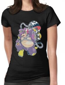 Metal Chain Bowser Womens Fitted T-Shirt
