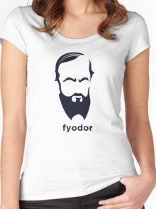 Fyodor Dostoevsky (Hirsute History) Women's Fitted Scoop T-Shirt