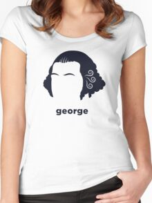 George Washington (Hirsute History) Women's Fitted Scoop T-Shirt