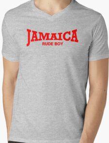 Jamaica Rude Boy Mens V-Neck T-Shirt