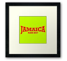 Jamaica Rude Boy Framed Print