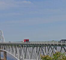 Bridging the Mississippi, Missouri to Illinois, USA Sticker