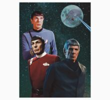 Three Spock Moon One Piece - Short Sleeve