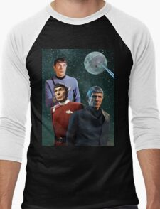 Three Spock Moon Men's Baseball ¾ T-Shirt