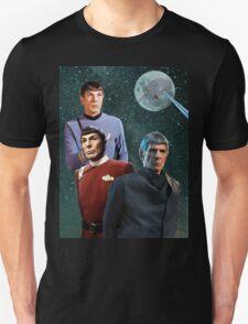 Three Spock Moon Unisex T-Shirt
