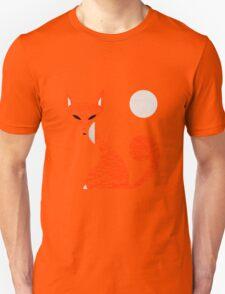 Fox and Moon Semicolon Version Unisex T-Shirt