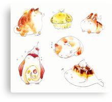 pastry animals. Canvas Print