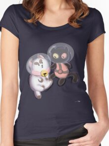 Space Kitties Women's Fitted Scoop T-Shirt
