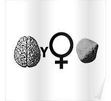Brainy Girls ROCK Poster