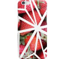Abstract Geometric Strawberry Collage iPhone Case/Skin