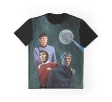 Three Spock Moon Graphic T-Shirt