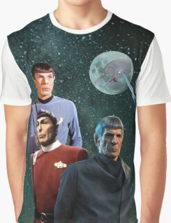 Three Spock Moon Graphic T-Shirt