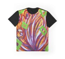 Squares and Wild Flowers Graphic T-Shirt