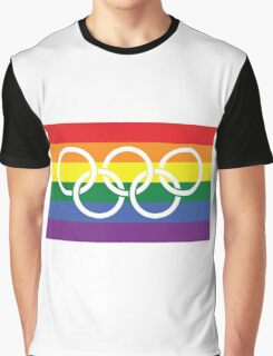 Rainbow Olympics Graphic T-Shirt