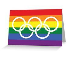 Rainbow Olympics Greeting Card