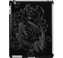 Skull snake and lossoms iPad Case/Skin
