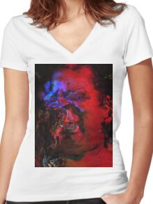 Zombie Lady Sings The Blues Women's Fitted V-Neck T-Shirt